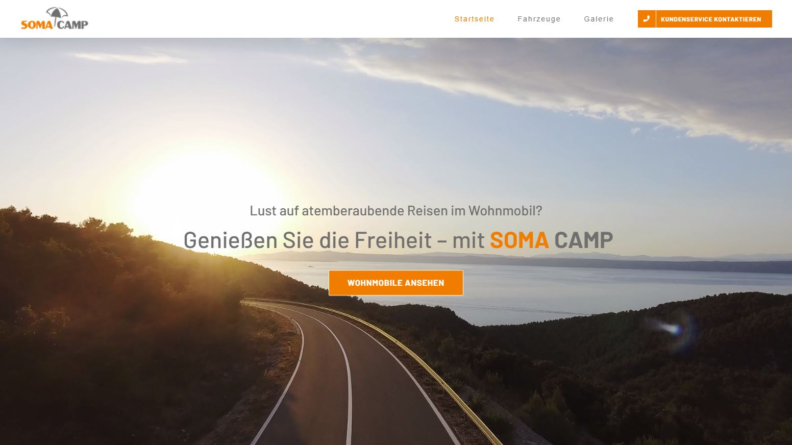 Webdesign Referenz Soma Camp Wohnmobile